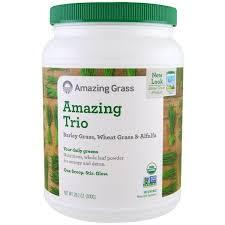 Amazing Grass, <b>Amazing Trio</b>, <b>Barley Grass</b> & Wheat Grass & Alfalfa ...