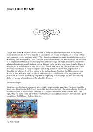 literary essay topics essay topics for kids essay topics for kids essays which can be defined as interpretative