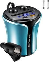 180W 3-Socket Cigarette Lighter Splitter w/ QC3.0 ... - Amazon.com