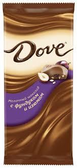 Купить <b>Шоколад DOVE молочный</b> с фундуком и изюмом, 90 г в ...
