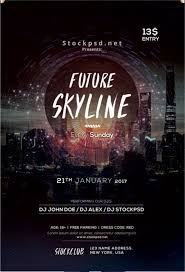 best images about flyer template valentines future skyline event psd flyer template