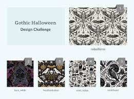 <b>Gothic Halloween</b> Fabric Design Challenge | Spoonflower Blog