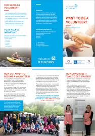 kilkenny volunteer service launched icsa irish charity shops a leaflet more info