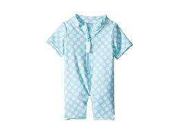 Toobydoo Baby Sun Suit (Infant/Toddler) (Blue/White Polka Dot ...