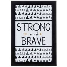 Strong & Brave <b>Tribal</b> Wood <b>Wall Decor</b> | Hobby Lobby | 1131820