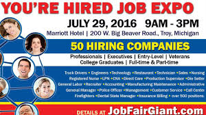 job expo in host 50 employers who are currently hiring