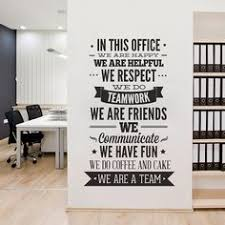 office decor typography in this office by homeartstickers on etsy brave professional office decorating ideas