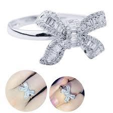 <b>1Pc</b> Alloy Party Ring Wedding Jewelry Bow Women <b>Luxury</b> Fashion ...