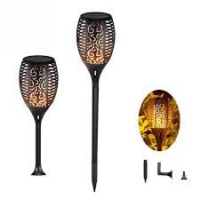 <b>1 Pcs</b> OR <b>2 Pcs 96</b> LED Waterproof Flickering Flame Solar Torch ...