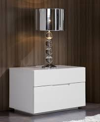 ideas bedside tables pinterest night: lea modern bedside cabinet in white high gloss