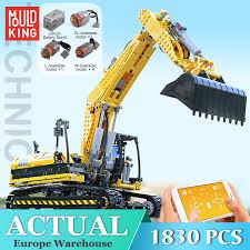 <b>Mould King</b> Remote Control <b>Motorized</b> Excavator Set Compatible ...