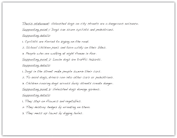 writing essays from start to finish draft supporting detail sentences for each primary support sentence