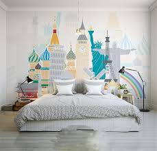 liberty bedroom wall mural: d room photo wallpaper custom mural non woven wall sticker statue liberty leaning tower painting