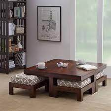 Kivaha <b>4</b>-Seater <b>Coffee Table</b> Set - Urban Ladder