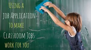 using a classroom job application teaching made practical classroom job application to help simplify your classroom job routine so that it helps make