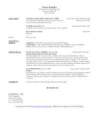 sample msw grad school resume