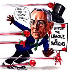 「President Woodrow Wilson (1856-1924) the League of Nations,」の画像検索結果