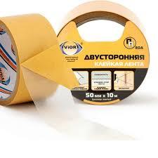 Купить <b>Двусторонняя клейкая лента</b> ПП 50мм х 10м <b>AVIORA</b> в ...