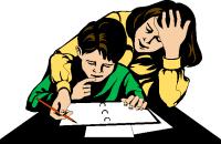 Résultats de recherche d'images pour «parent helping child with homework»
