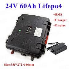 GTK Portabl <b>24V 60AH Lifepo4 lithium battery battery</b> with 8s BMS ...