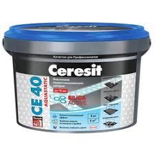 «<b>Ceresit</b> CE 40 Aquastatic № 42 латте, ведро 2 кг. Эластичная ...