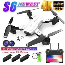 Upgraded <b>S6</b> Long Flight Time <b>Rc Folding</b> Drone with Professional ...