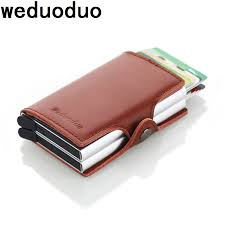 Genuine Leather Automatic Credit Card Holder Men High Quality ...