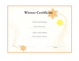 prize winner or winning certificate template for sports helloalive it