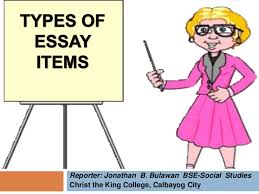 types of essay items