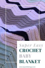 Super easy <b>Crochet Baby</b> Blanket for <b>New Arrival</b> - one stitch ...