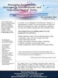 managing across teams interagency interdivisional and managing across teams