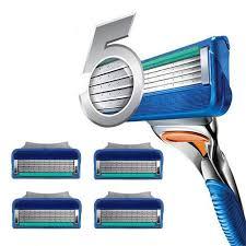 <b>4pcs</b>/<b>lot Razor Blade For</b> Men Face Care 5Layers Shaving Cassette ...