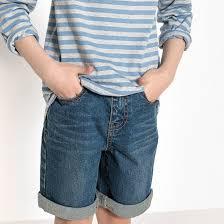 <b>Бермуды</b> джинсовые, 3-12 лет синий <b>La Redoute</b> Collections | La ...