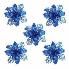 Home, Furniture & DIY Ornaments <b>5PCS Glitter Artificial</b> Flowers ...