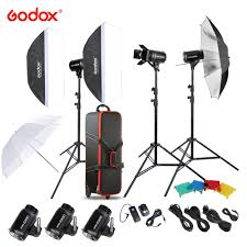 Original <b>Godox E300</b> D Photo Studio Speedlite Lighting Kit with ...