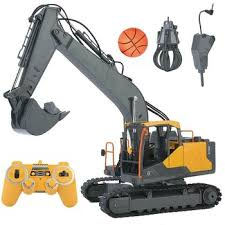 Volvo <b>E568</b>-003 Rc Excavator Double Eagle 2.4G 1:16scale <b>3in1</b> ...