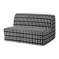 LYCKSELE <b>Two</b>-seat <b>sofa</b>-<b>bed</b> cover - Ebbarp black/white, - - IKEA