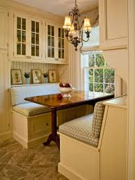 Dining Room  Kitchen Banquette With Corner Storage Bench And - Dining room cabinets for storage