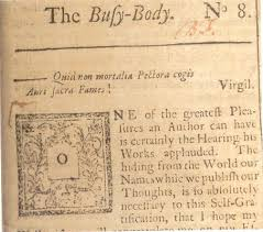 """benjamin franklin writer and printer  the printer as writerbenjamin franklin  """"the busy body """" no   in the american"""