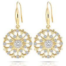 DovEggs 14K Yellow Gold Plated Silver Center 0.3ct ... - Amazon.com