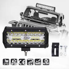 Niscarda <b>7inch 120w LED Work</b> Light Bar Combo Car Driving Lights ...