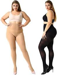 MANZI Women's Plus Size Support Tights <b>Plus Size XL-4XL</b> ...