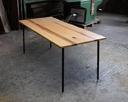 classic oak table classic red oak dining table on original adjustable hardman design build steel rod legs modern industrial build industrial furniture