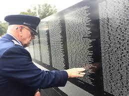 vets dedicate vietnam wall replica kilgore news herald sgt david applewhite of kilgore finds danny gilstrap s on the vietnam veterans memorial wall