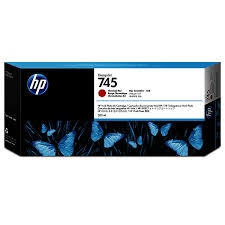 <b>HP 745</b> Ink Cartridge <b>Chromatic</b> Red 300 ml   Aqueous Ink ...