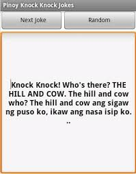 Pinoy Knock Knock Jokes APK Download - Free Books & Reference app ... via Relatably.com