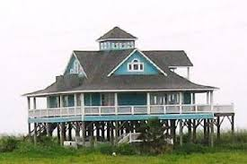 Design house plans on pilingsWaterfront house plans   wooden post  pole  piling or