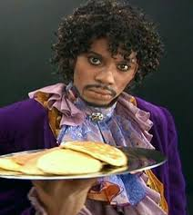 Dave Chappelle as Prince serving pancakes for Charlie's True ... via Relatably.com