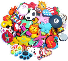 Lot Of <b>100 Pcs PVC</b> Different Shoe Charms for Croc & Jibbitz Bands ...