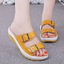 women summer sandals slippers square heel transparent open toe narrow band slingback slip on
